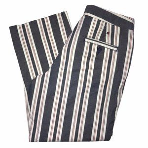 Tommy Hilfiger Flag Gray Striped Crop Pants 2 23